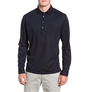 Peter Millar Long Sleeve Silk & Cotton Polo Shirt